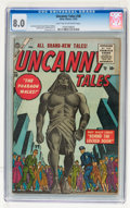 Golden Age (1938-1955):Horror, Uncanny Tales #38 (Atlas, 1955) CGC VF 8.0 Light tan to off-whitepages....