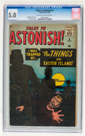 Silver Age (1956-1969):Horror, Tales to Astonish #5 (Marvel, 1959) CGC VG/FN 5.0 Light tan tooff-white pages....