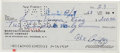 Autographs:Checks, 1963 Alex Pompez Signed Check.. ...