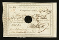Colonial Notes:Connecticut, Connecticut Civil List. February 14, 1789. Signed by OliverWolcott. Extremely Fine....