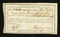 Colonial Notes:Connecticut, Connecticut Interest Payment. February 7, 1792. ExtremelyFine-About New....