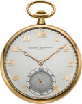 Timepieces:Pocket (post 1900), Vacheron & Constantin Gent's Gold Pocket Watch, circa 1918. ...