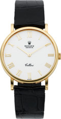 Timepieces:Wristwatch, Rolex Gent's Ref. 5112 Gold Cellini, circa 1995. ...