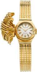 Timepieces:Wristwatch, Rolex Lady's Covered Dial Gold Wristwatch, circa 1950's. ...