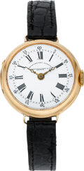 Timepieces:Wristwatch, Patek Philippe Lady's Gold Chronometro Gondolo Wristwatch, circa1908. ...