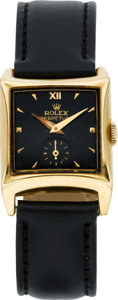 Timepieces:Wristwatch, Rolex Ref. 8126 Gold Perpetual Wristwatch, circa 1940's. ...