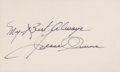 Olympic Collectibles:Autographs, Jesse Owens Signed Index Card....