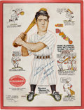 Autographs:Others, 1940 Hillerich & Bradsby Advertising Sign, Signed by JoeDiMaggio. ...