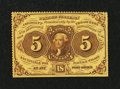 Fractional Currency:First Issue, Fr. 1228 5¢ First Issue Choice New....