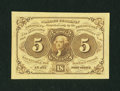 Fractional Currency:First Issue, Fr. 1231SP 5¢ First Issue Face New....