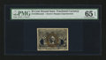 Fractional Currency:Second Issue, Milton 2E25F.6 25¢ Second Issue Experimental PMG Gem Uncirculated 65 EPQ....