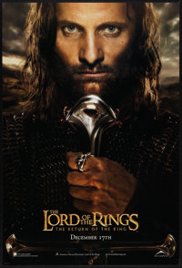 """The Lord of the Rings: The Return of the King (New Line, 2003). One Sheet (27"""" X 40"""") DS Advance Aragorn Style..."""