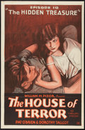 """Movie Posters:Serial, The House of Terror (William Pizor, 1928). One Sheet (27"""" X 41"""") Episode 10 -- """"The Hidden Treasure."""" Serial.. ..."""