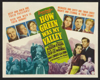 "How Green Was My Valley (20th Century Fox, 1941). Title Lobby Card (11"" X 14""). Drama"