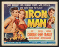"""Movie Posters:Sports, Iron Man Lot (Universal International, 1951). Title Lobby Card and Lobby Cards (2) (11"""" X 14""""). Sports.. ... (Total: 3 Items)"""