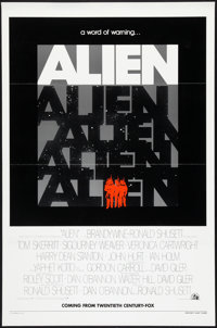 "Alien (20th Century Fox, 1979). Advance One Sheet (27"" X 41"") Flat Folded. Science Fiction"