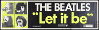 "Let It Be (United Artists, 1970). Banner (24"" X 82.25""). Rock and Roll"