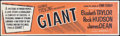 "Movie Posters:Drama, Giant (Warner Brothers, R-1963). Banner (24"" X 82""). Drama.. ..."