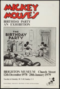 "Movie Posters:Animated, Mickey Mouse Birthday Exhibition (Walt Disney, 1978). British Double Crown (20"" X 30""). Animated.. ..."