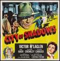 "Movie Posters:Crime, City of Shadows (Republic, 1955). Six Sheet (81"" X 81""). Crime....."