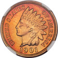 Proof Indian Cents, 1901 1C PR67 Red NGC....