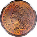 Proof Indian Cents, 1877 1C --Altered Color--NGC. Proof....