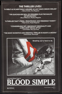 """Blood Simple (Circle Films, 1984). One Sheet (24"""" X 37""""). Thriller"""