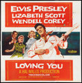 "Movie Posters:Elvis Presley, Loving You (Paramount, 1957). Six Sheet (81"" X 81""). ElvisPresley.. ..."