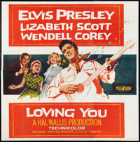 "Loving You (Paramount, 1957). Six Sheet (81"" X 81""). Elvis Presley"