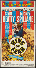 "Movie Posters:Mystery, Ring of Fear (Warner Brothers, 1954). Three Sheet (41"" X 81"").Mystery.. ..."