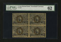 Fractional Currency:Second Issue, Fr. 1232 5¢ Second Issue Block of Four PMG Uncirculated 62....