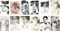 Autographs:Post Cards, Vintage Baseball Stars Signed Postcards Lot Of 24....