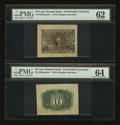 Fractional Currency:Second Issue, Fr. 1244SP 10¢ Second Issue Wide Margin Pair.. ... (Total: 2 notes)
