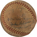 Autographs:Baseballs, Late 1940's Rogers Hornsby & Jackie Robinson Signed Baseball....