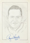 Autographs:Others, Rogers Hornsby Signed Original Artwork....