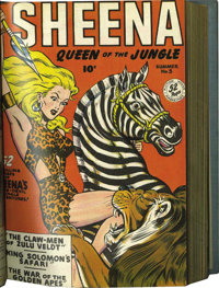 Sheena, Queen of the Jungle #4-15 Bound Volume (Fiction House, 1948-52)