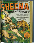 Golden Age (1938-1955):Adventure, Sheena, Queen of the Jungle #1-3 File Copy Bound Volume (Fiction House, 1942-43)....