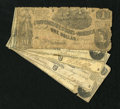 Confederate Notes:1862 Issues, T44 $1 1862 Three Examples, T42 $2 1862 Two Examples.. . ...
