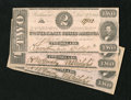 Confederate Notes:1862 Issues, T54 $2 1862 Cr-392 Three Examples.. . ... (Total: 3 notes)