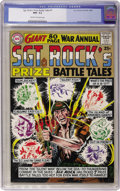 Silver Age (1956-1969):War, Sgt. Rock's Prize Battle Tales Annual #1 (DC, 1964) CGC NM- 9.2 Cream to off-white pages....