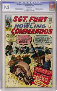 Sgt. Fury and His Howling Commandos #3 (Marvel, 1963) CGC NM- 9.2 Off-white pages