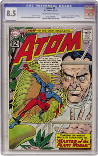 The Atom #1 (DC, 1962) CGC VF+ 8.5 Off-white to white pages
