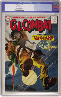 G.I. Combat #44 (DC, 1957) CGC VF/NM 9.0 Cream to off-white pages