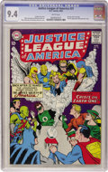 Silver Age (1956-1969):Superhero, Justice League of America #21 (DC, 1963) CGC NM 9.4 White pages....