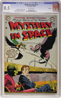 Golden Age (1938-1955):Science Fiction, Mystery in Space #7 River City pedigree (DC, 1952) CGC VF+ 8.5Off-white pages....