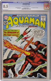 Aquaman #1 (DC, 1962) CGC VF+ 8.5 Off-white to white pages