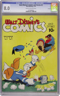 Golden Age (1938-1955):Cartoon Character, Walt Disney's Comics and Stories #2 File Copy (Dell, 1940) CGC VF8.0 Cream to off-white pages....