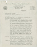 Golf Collectibles:Autographs, 1928 William C. Fownes, Jr. Signed Letter....