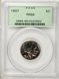 Proof Buffalo Nickels, 1937 5C PR66 PCGS....