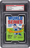 "Baseball Collectibles:Others, 1968 Fleer ""World Series"" 10-Cent Wax Pack PSA NM 7...."